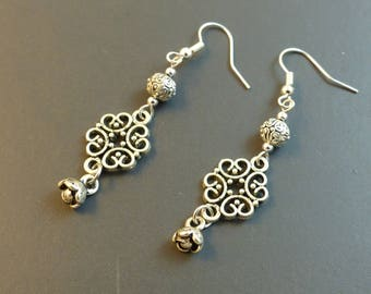 Silver ethnic earrings chic ♥ ♥
