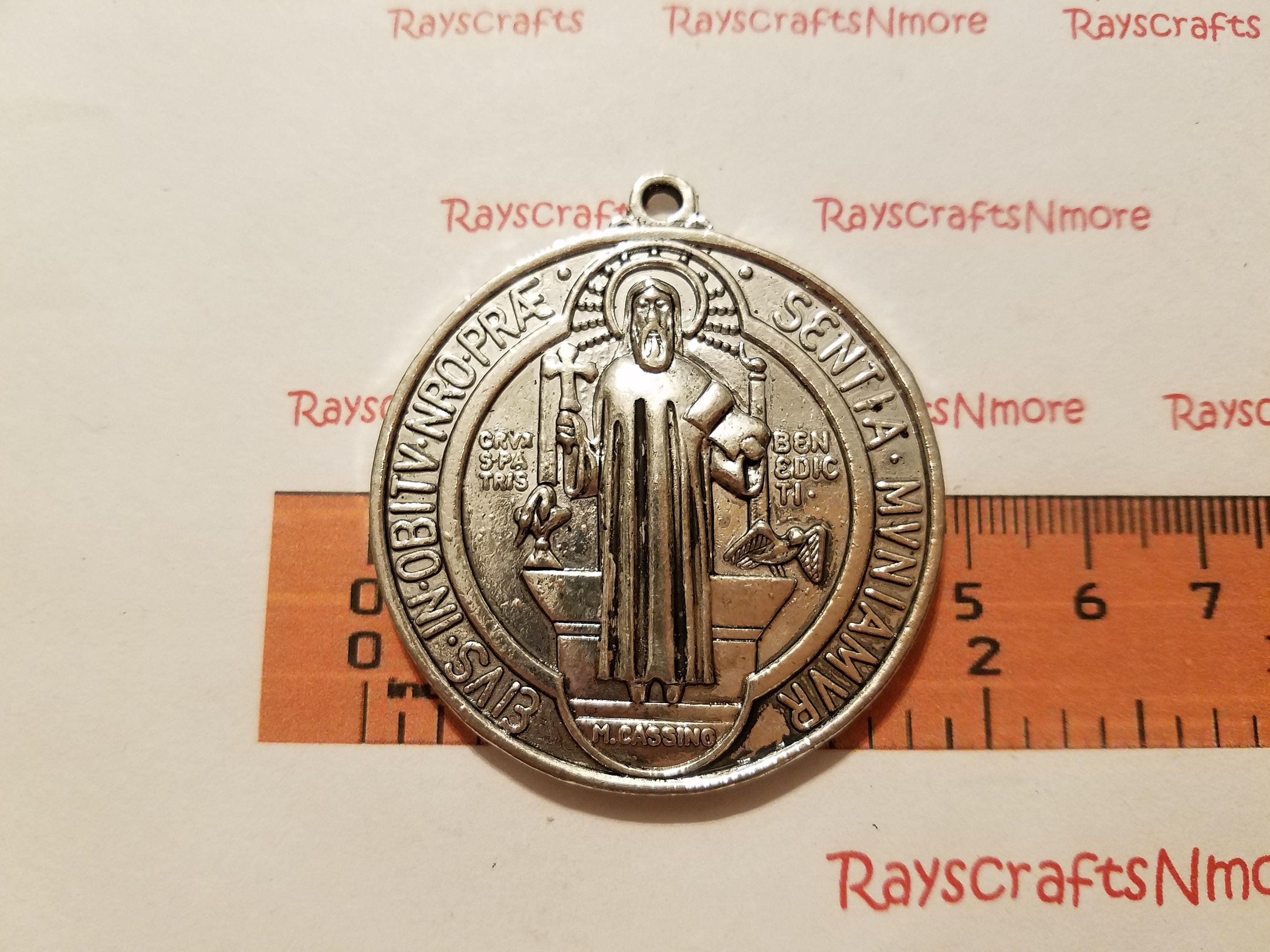 p religious us medallion saint for uvfojmw joseph sterling bling pendant mens silver jewelry c pray necklace inches