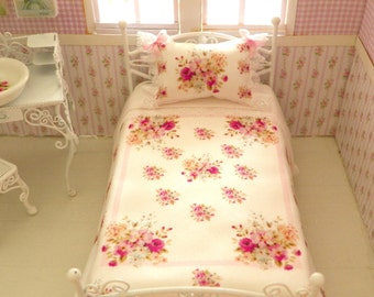 1/12 scale bed sheets,bed linen