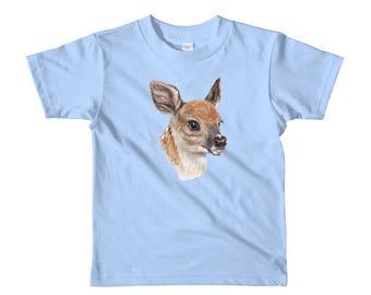 Fawn Face Short sleeve kids t-shirt