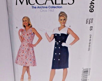 McCalls Sewing Pattern MP409 Plus Size 14-22 Archive Collection M7087