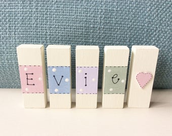 Wooden Blocks - Letter Blocks, Personalised Wooden Blocks, Name Blocks, , Nursery Blocks, ABC Blocks, Baby Blocks, Christening Gift.