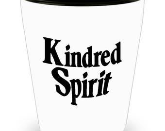 Kindred Spirits Shot Glass - SET OF 3 • 1.5 oz Ceramic Shot Glass - Made In The USA