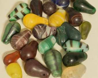 Beads Wedding Glass Old Assorted Colorful Teardrop African Beads 25mm