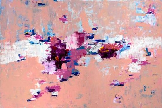 Pink Abstract Art Painting - prints and original