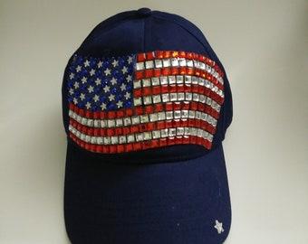 Women's baseball American Flag hat
