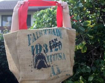 San Diego Hai Shopping Bag Verkauf / Sackleinen Strand Tasche tropischen Futter / ein von einer Art Hai-Tasche