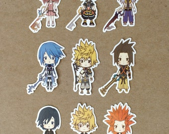 Chibi Kingdom Hearts Stickers