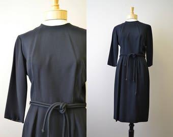 1950s Ann Colby Black Dress