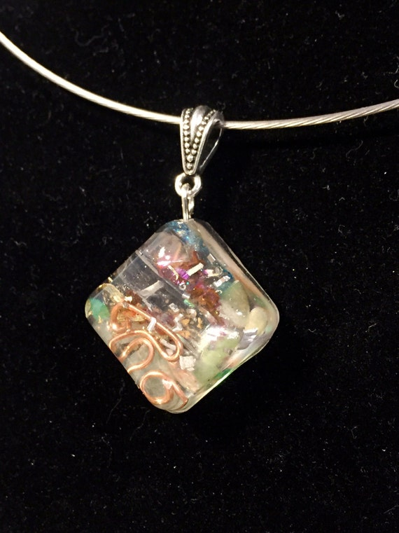 Stardust Orgone Energy Necklace- Law of Attraction Orgonite® Pendant- Life Partner Love and Companionship Energy- Fearless Courage Orgonite®