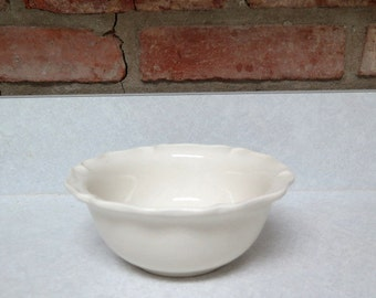 Small White Ceramic Bowl, circa 1990