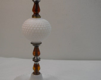 Hobnail Table Lamp Milk Glass Bedroom Lamp Accent Lamp Free Shipping
