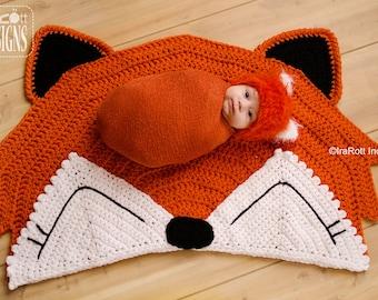 CROCHET PATTERN Foxy Fox Rug Nursery Mat Crochet PDF Pattern Instant Download