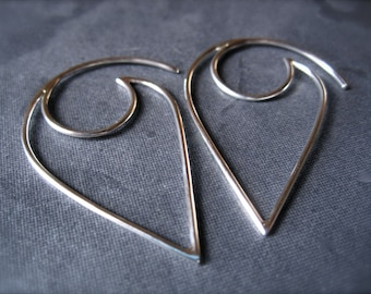 Lotus Petal French Ear Wires - Solid Sterling Silver - high end jewelry earring findings - supplies