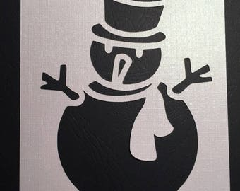 Pearly white snowman card embellishment