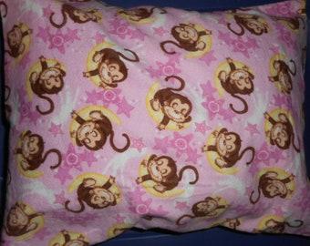 Sleeping monkey travel pillow case