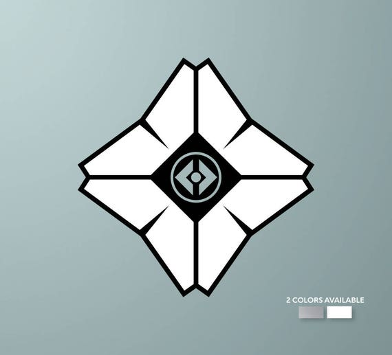 Destiny 2 Color Ghost Decal Apple Logo Cover