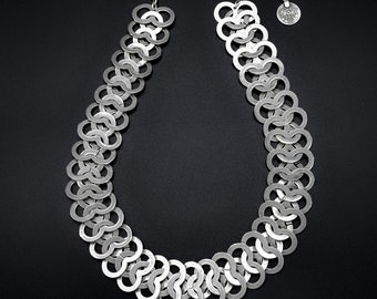 Silver Plated Pewter Jewelry Necklace 1573