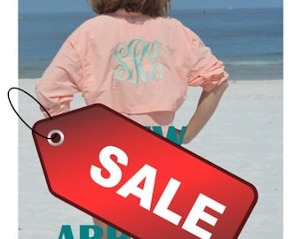 Monogrammed Fishing Shirts -- Size XSMALL and SMALL--Long Sleeve/ Swimsuit Cover Up/  SAVE Five Dollars Now!