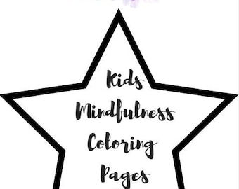 Kids Mindfulness Coloring Pages with Bonus Corresponding Adult Mindfulness Coloring Page