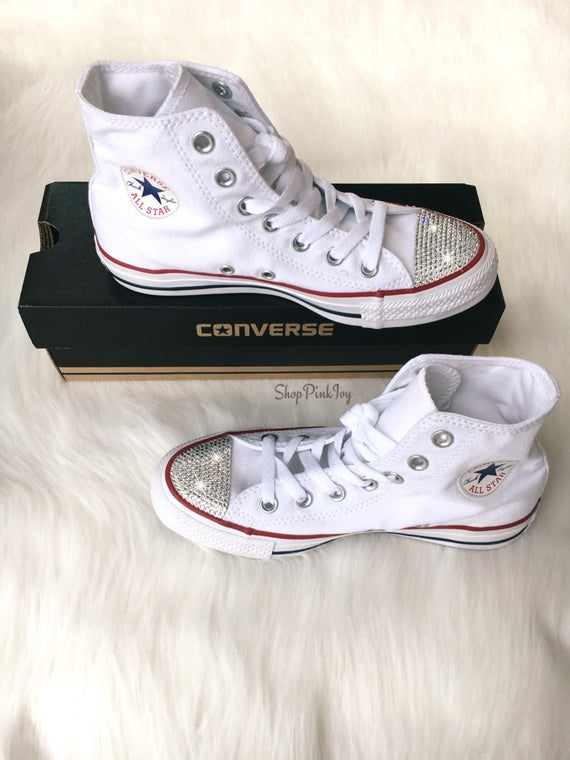 Chuck Converse High Casual Swarovski Taylor Women s Crystals Top with  Customized Shoes P51wS7xdSq ... f2688a51e