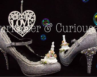 Here Comes The Bride Bubble Heels
