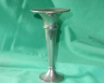 silver plated fluted vase/Vintage, 1960s/ EPNS/British
