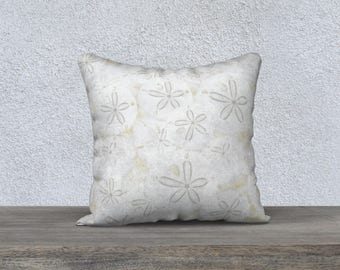 "Sand Dollars 18""x18"" Pillow Case"
