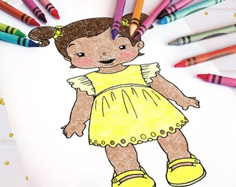 Nursery Girl Coloring Page