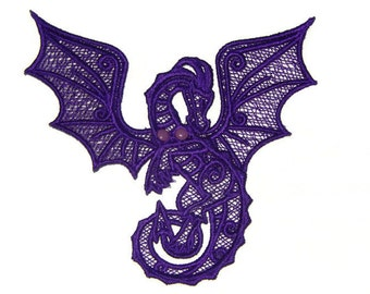 Lace Dragon with Articulated Wings