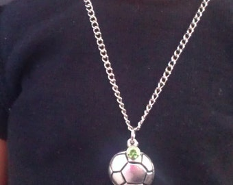 "18"" Doll Jewelry Soccer Ball Necklace American Girl Accessory"