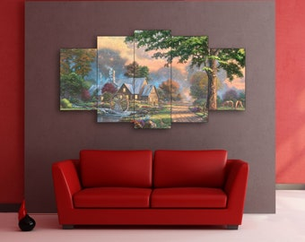 River art on canvas
