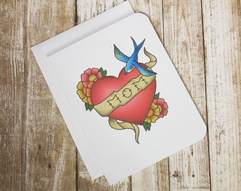 Mom Tattoo - Mother's Day Card - Mom Birthday Card - Mom Any Day Card - Mom Tattoo