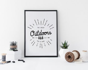Outdoors Art Print Download