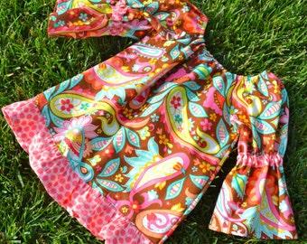 "Girls Dress Pattern, Peasant Dress Pattern, Sewing Patterns, PDF Sewing Pattern, Easy Sewing PDF Pattern, 9m-12 ""The Reese Peasant Dress"""
