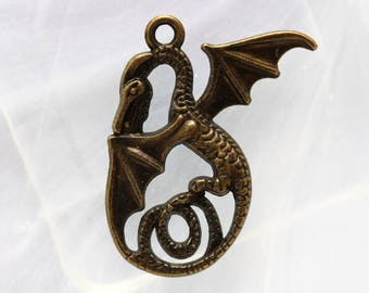 bronze dragon charm