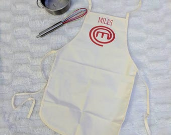 MasterChef Apron, kids Apron, Adult Apron, Personalized Apron, Custom Apron, baker, cooks,  apron, bakers, toddler, masterchef