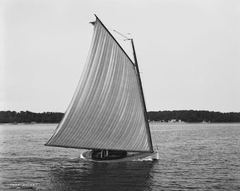Yacht Rocket - copy of vintage photograph from c1900