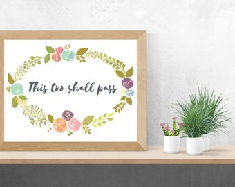 This too shall pass Cross Stitch Pattern, Instant Download, PDF