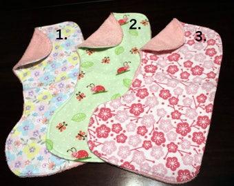 Baby Girl Burp Cloths