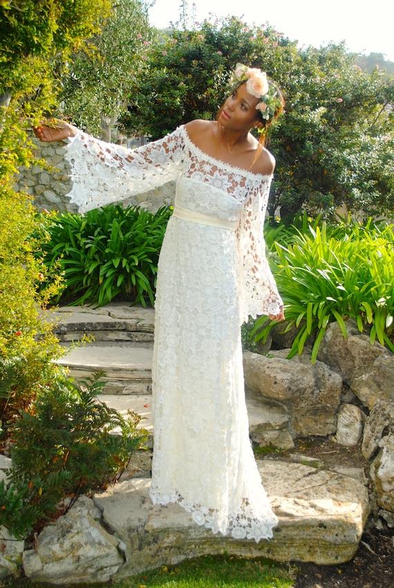 Boho Hippie Wedding Dress
