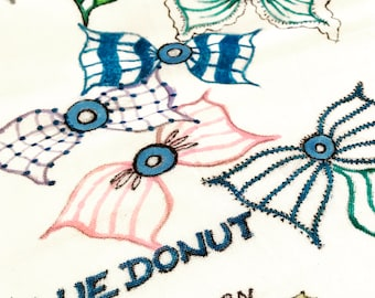 Hand painted kitchen towel