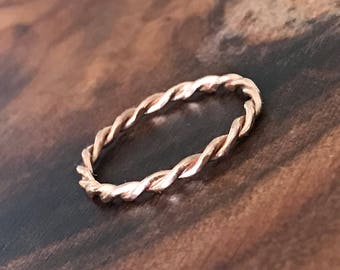 Rope Wedding Band - Ready to Ship
