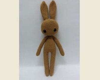 Crochet Garage, Crochet bunny, Crochet rabbit, Amigurumi bunny, Crochet Doll Pattern, Izzy Bunny-Basic Body