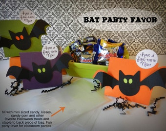 KIT Halloween Treat Boxes, Fang-tastic, Party Favor, Classroom Treat, Co-Worker Treat, Teacher Appreciation, Trick or Treaters, Party Treats