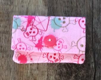 Cute Pink Skull Wallet