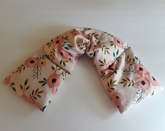 Heating Pad Microwavable, Hot Pack, Hot Cold Wrap, Microwave Heating Pad, Flax Seed, Scented or Unscented- country roses