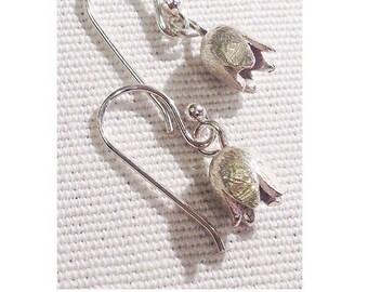 Silver Tulip Earrings
