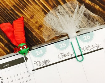 Ninja Turtle and Tulle Paperclips