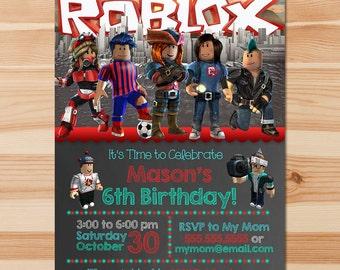 Roblox Birthday Invite - Chalkboard - Roblox Invitation - Roblox Party - Roblox Printables - Roblox Birthday Party Favors - Printable Invite